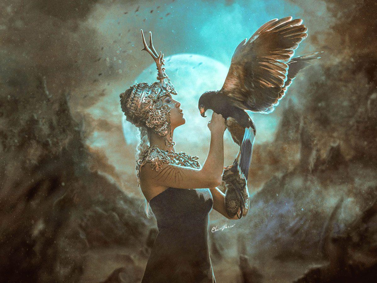 Photographie, photomontage & peinture numérique.  Copyright www.ClairObscur.fr