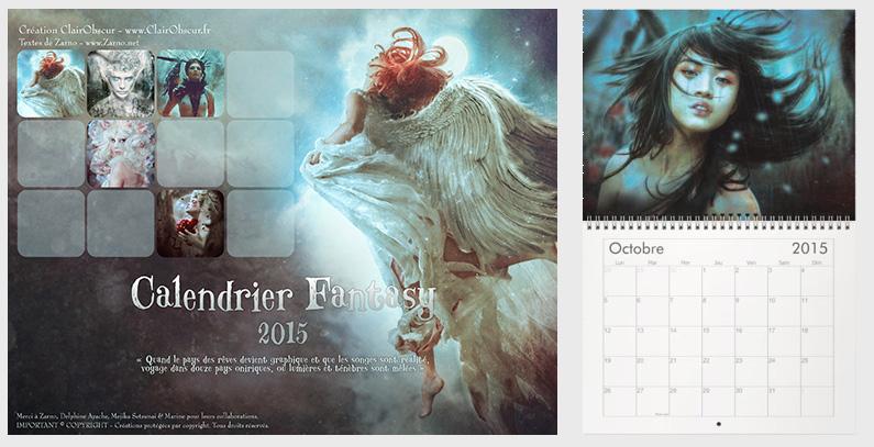 Calendrier Fantasy 2015